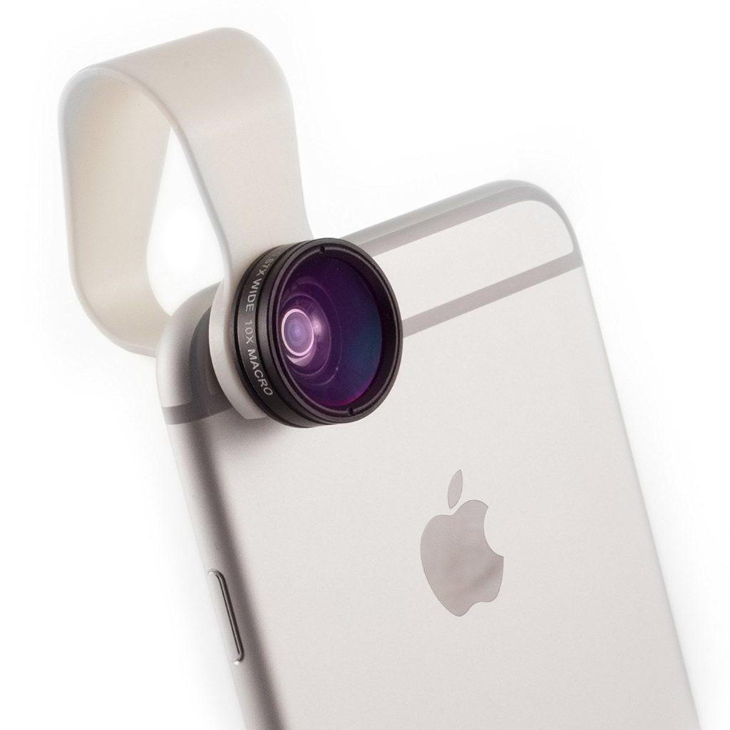 Cell Phone Camera Lens 2-in-1 by Pocket Lens, Macro and Wideangle lens