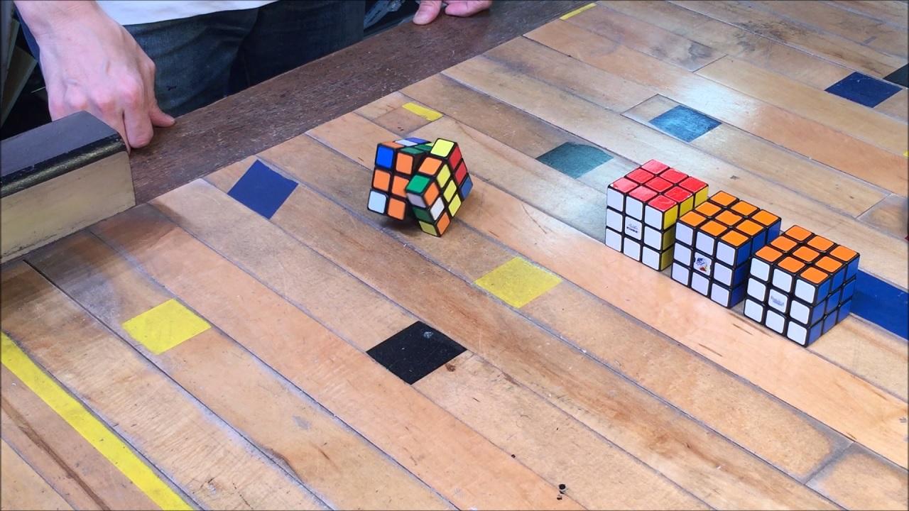 3d self solving rubiks cube