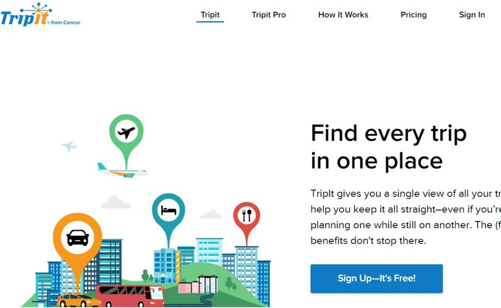 Tripit essential mobile app for business travelers