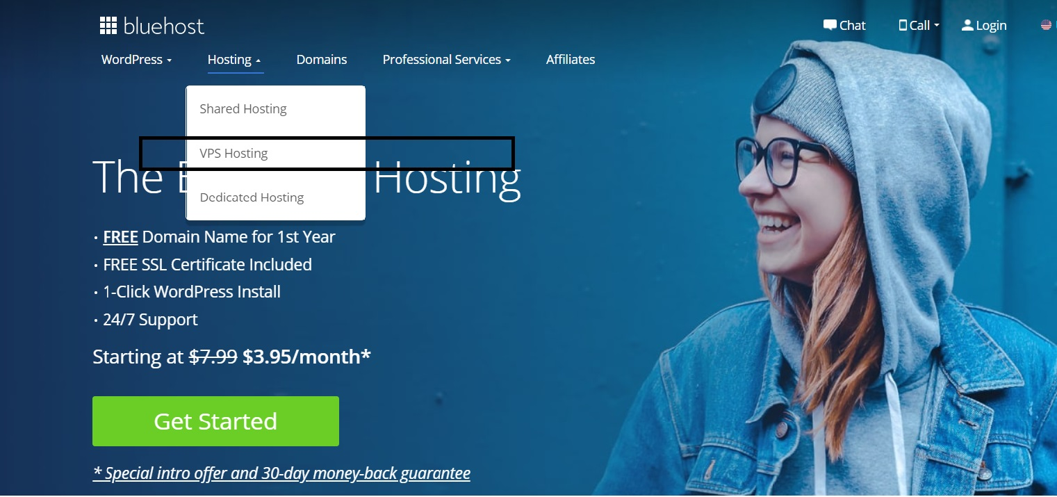bluehost vps web hosting discount
