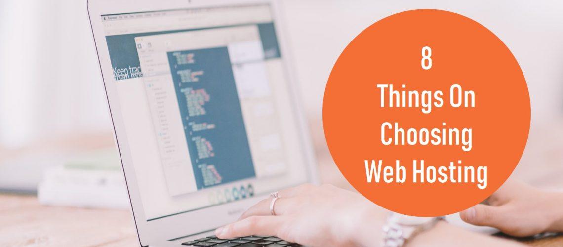 choosing web hosting service