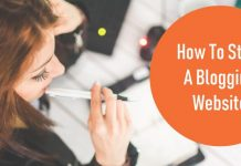 how to start a blogging website
